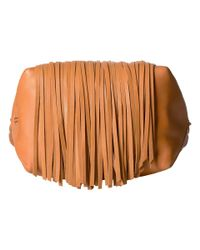 Frye - Brown Ray Fringe Crossbody - Lyst