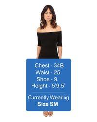 Splendid - Black 2x1 Off The Shoulder Rib Dress - Lyst