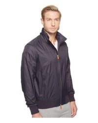 Save The Duck - Blue Full Zip Lightweight Windbreaker for Men - Lyst