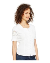 Scully - White Cantina Damara Short Sleeve Top - Lyst