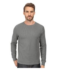 Threads For Thought - Gray Rocco Crew Double Face Thermal for Men - Lyst