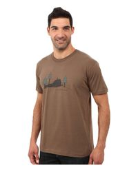 Toad&Co - Brown Weekend Cabin Short Sleeve Tee for Men - Lyst