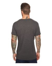 Scotch & Soda - Gray Chic Tee In Cotton/tencel Quality With Clean Outlook for Men - Lyst