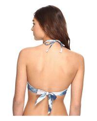 Billabong - Blue Tidalwave High Neck Bikini Top - Lyst