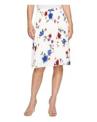 Ellen Tracy - Multicolor Sunburst Pleat Skirt - Lyst