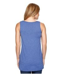 Mod-o-doc - Blue Heather Jersey Banded Tank Top - Lyst
