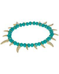 Rebecca Minkoff - Multicolor Tiki Beaded Spike Bracelet - Lyst