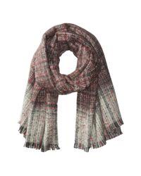 Lauren by Ralph Lauren - Black Boucle Textured Check Scarf - Lyst