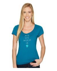 Life Is Good. - Blue Love Stack Smooth Tee - Lyst