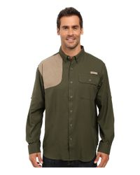 0e75d1ebbad Columbia Blood And Guts Shooting Shirt in Green for Men - Lyst