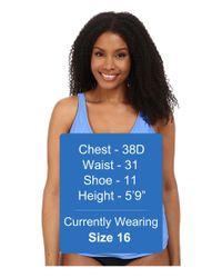 Athena - Blue Plus Size Cabana Solids Removable Soft Cup Halterkini - Lyst