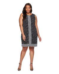 d12603713e7 MICHAEL Michael Kors. Women s Black Plus Size Nora Sleeveless Border Dress