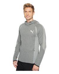 PUMA - Gray Evostripe Ultimate Hoodie for Men - Lyst
