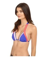 Seafolly | Blue Summer Vibe Slide Tri Top | Lyst