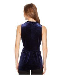 Kensie - Blue Smooth Velvet Sleeveless Top Ksnk34s8 - Lyst