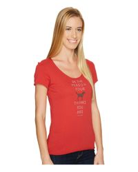 Life Is Good. - Red Dog Icon Stack Smooth Tee - Lyst