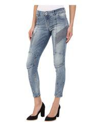 Balmain - Blue Faded Biker Jeans - Lyst