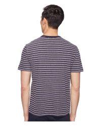 Jack Spade - Blue Short Sleeve Striped Tee for Men - Lyst