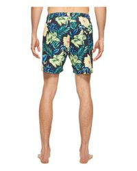 Scotch & Soda - Blue Medium Length Swim Shorts In Cotton/nylon Quality With All Over for Men - Lyst