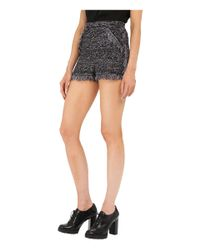 M Missoni - Black Lurex Fringe Shorts - Lyst