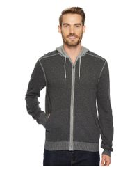 Agave - Gray White Water Long Sleeve 12GG Neps Hoodie for Men - Lyst