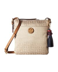 Tommy Hilfiger | Natural Summer Of Love North/south Crossbody Jacquard | Lyst