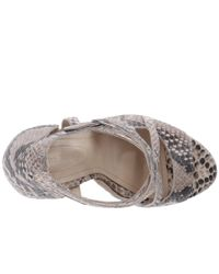 The Kooples - High Sandals In Natural Embossed Python - Lyst