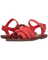 TOMS - Red Zoe Sandal - Lyst