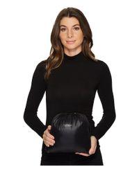 Lauren by Ralph Lauren - Black Button Front Packable W/ Hood - Lyst