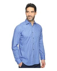 Bugatchi - Blue Long Sleeve Classic Fit Point Collar Shirt for Men - Lyst