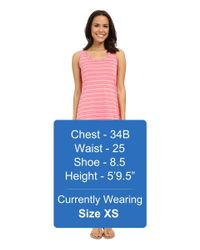 Mod-o-doc - Pink Tonal Tencel Stripe Tank Dress - Lyst