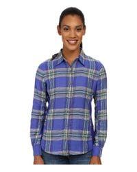 Marmot - Blue Maci Flannel Long Sleeve - Lyst
