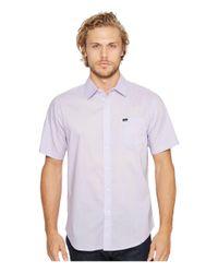 Obey - Purple Lou Woven Short Sleeve Shirt for Men - Lyst