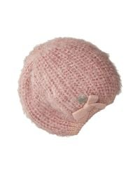 Betsey Johnson | Pink Pearl Crazy Beret | Lyst