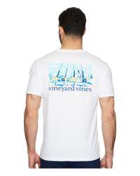 Vineyard Vines - White Short Sleeve Fishing Excursion Pocket Tee for Men - Lyst