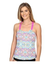 Next By Athena - Blue Wellness Retreat Third Eye Rem Soft Cup Shirr Tankini - Lyst