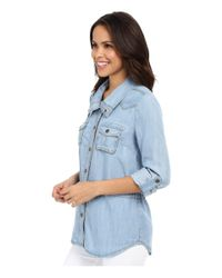Kut From The Kloth - Blue Chase Button Up Top - Lyst
