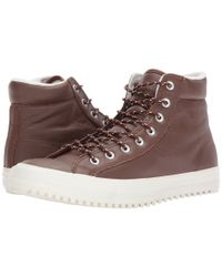 Converse - Brown Chuck Taylor® All Star® Boot Pc Tumbled Leather Hi for Men - Lyst