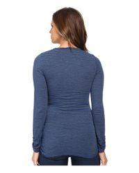 Mod-o-doc - Blue Twisted Collar Side Shirred Tee - Lyst