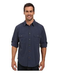Woolrich - Blue Midway Solid Long Sleeve Shirt Regular Fit for Men - Lyst