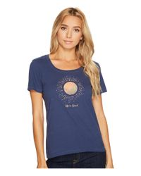 Life Is Good. - Blue Sunray Circles Crusher Scoop - Lyst