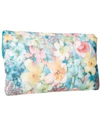 Jessica Mcclintock - Blue Arielle Soft Floral Envelope Clutch - Lyst