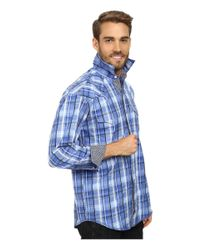 Stetson - Blue Squared Off Plaid Flat Weave W/ Satin for Men - Lyst