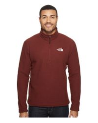 The North Face - Red Sds 1/2 Zip Pullover for Men - Lyst