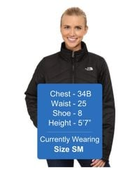 The North Face - Black Mossbud Swirl Reversible Jacket - Lyst
