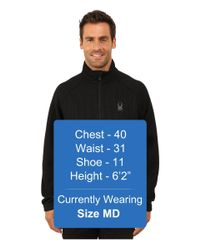 Spyder - Black Constant Full Zip Mid Weight Core Sweater for Men - Lyst