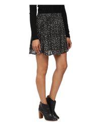 Lucky Brand | Black Printed Mini Skirt | Lyst