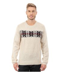 U.S. POLO ASSN. | Multicolor Snowflake Crew Neck Sweater for Men | Lyst