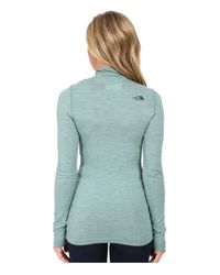 The North Face - Blue Long Sleeve Go Seamless Wool 1/4 Zip - Lyst