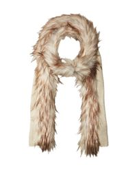 Lauren by Ralph Lauren - Multicolor Coyote Trimmed Scarf With Lurex - Lyst